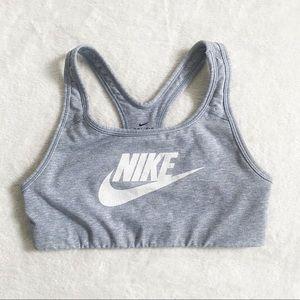 Nike dri fit grey athletic sports bra size small